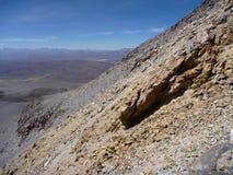 Slopes around volcano isluga at chilean altiplano Stock Images