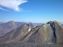 Slopes around volcano isluga at chilean altiplano Royalty Free Stock Photo