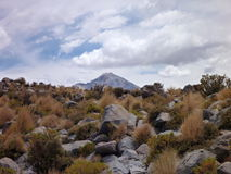 Slopes around volcano isluga at chilean altiplano Royalty Free Stock Photography