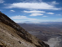 Slopes around volcano isluga at chilean altiplano Stock Images