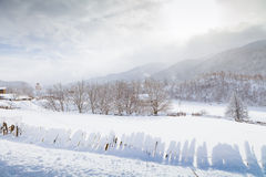 The slopes of the Caucasus Mountains in cloud sun Stock Photography
