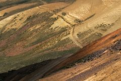 Slopes of Chacaltaya Range in Bolivian Andes Royalty Free Stock Photography