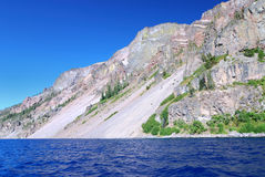 Slopes of Crater lake Royalty Free Stock Photos