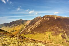 The slopes of the Cumbrian Mountains Stock Images
