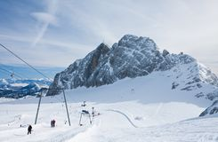 On the slopes of  Dachstein plateau. Austria Stock Images
