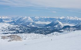 On the slopes of  Dachstein plateau. Austria Stock Image