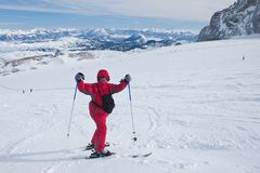 On the slopes of the Dachstein plateau. Austria Royalty Free Stock Photography
