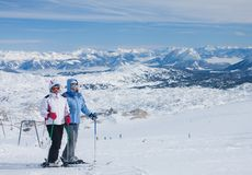 On the slopes of the Dachstein plateau. Austria royalty free stock photos