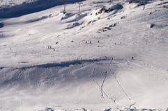 Slopes in Deux Alpes. France Stock Images
