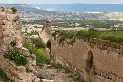 On the slopes of the fortress of Uchisar. Stock Photo