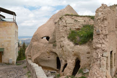 On the slopes of the fortress of Uchisar. Royalty Free Stock Photos