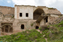 On the slopes of the fortress of Uchisar. Stock Image