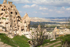 On the slopes of the fortress of Uchisar. Royalty Free Stock Image