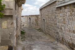 On the slopes of the fortress of Uchisar. Royalty Free Stock Photo