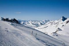 Slopes of Hintertux 5, Austria. Stock Photo