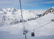On the slopes of Hohrgurgl. Austria Royalty Free Stock Image