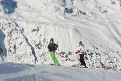 On the slopes of Hohrgurgl. Austria Royalty Free Stock Images