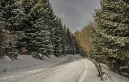 On slopes of Jested hill in winter time. On slopes of Jested hill in winter cold day Royalty Free Stock Photos