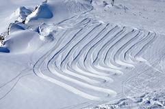 Slopes in Kitzsteinhorn ski resort, Austrian Alps Stock Photo