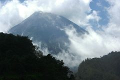 Slopes of Mount Merapi Stock Image