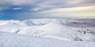 Slopes. Mountain slopes in cold winter Stock Images