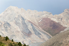 Slopes of the mountains in Kazakhstan Royalty Free Stock Images