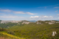 The slopes of the mountains near the village of Laspi Stock Photography