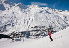 On the slopes of Obergurgl. Austria Stock Image
