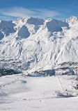 On the slopes of Obergurgl. Austria Royalty Free Stock Images