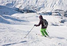 On the slopes of Obergurgl. Austria Royalty Free Stock Photo