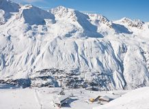 On the slopes of Obergurgl. Austria Stock Photo