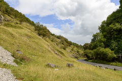 Slopes and road at Cheddar gorge, Somerset Stock Photo