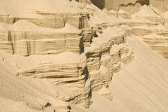 Slopes of sand wall Stock Photo