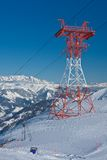 Slopes of ski resort, Kaprun, Austrian Alps Stock Photo