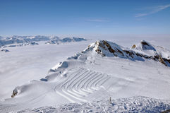 Slopes in the ski resort Kitzsteinhorn, Austria Royalty Free Stock Image