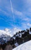 On the slopes of the ski resort of Meribel Stock Image