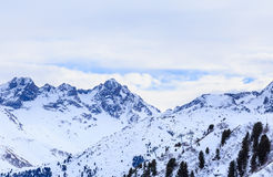 On the slopes of the ski resort of Meribel Royalty Free Stock Photography