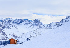 On the slopes of the ski resort of Meribel Stock Photography