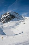 On the slopes of the ski resort of Solden Royalty Free Stock Photography