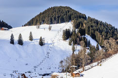 On the slopes of the ski resort Soll, Tyrol Stock Photo
