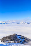 On the slopes of the ski resort Soll, Tyrol Stock Images