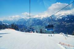 Slopes of skiing resort Stock Image