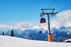Slopes of skiing resort Stock Image