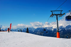 Slopes of skiing resort Royalty Free Stock Photography