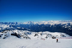Slopes of skiing resort Stock Photography