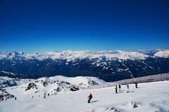 Slopes of skiing resort Royalty Free Stock Photos