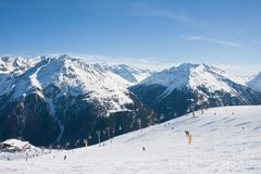 On the slopes of Solden. Austria Stock Photos