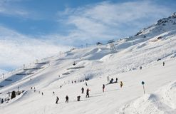 On the slopes of Solden. Austria Royalty Free Stock Images