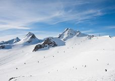 On the slopes of Solden. Austria Royalty Free Stock Photos