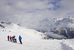 On the slopes of Solden. Austria Stock Photos